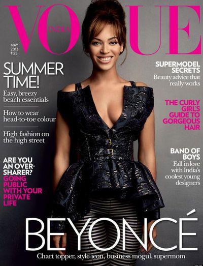 Beyoncé on the cover of <em>Vogue India</em> May 2013