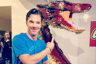 Benedict Cumberbatch, who voices Smaug the dragon, gets to know his LEGO counterpart.
