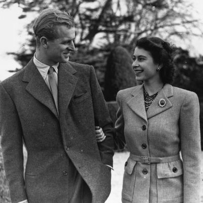"Queen Elizabeth and Prince Philip on honeymoon<span style=""white-space:pre;"">	</span>"