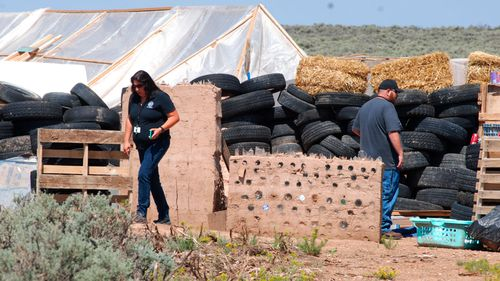 Eleven children found living in filth at the ramshackle New Mexico compound.