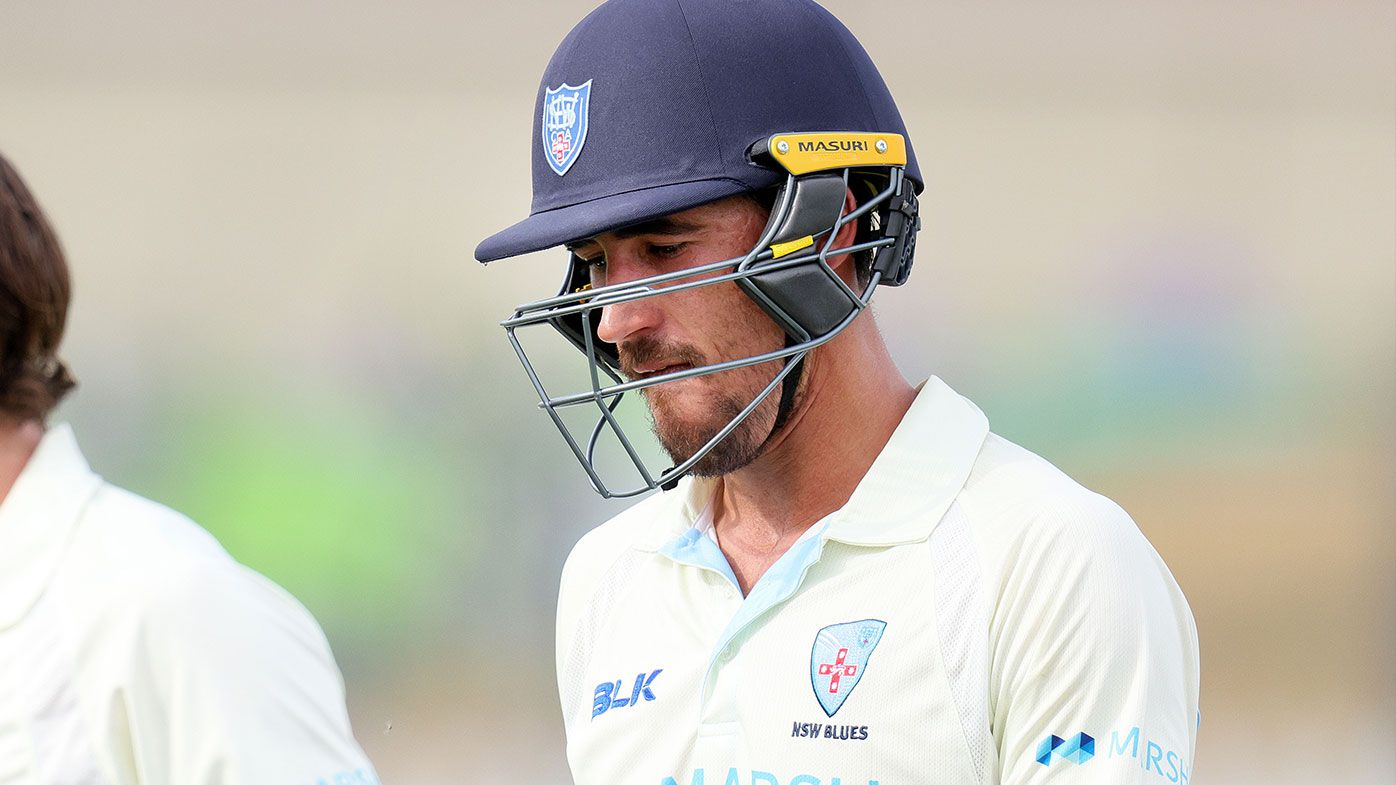 Mitchell Starc tosses his bat after NSW captain declares before reaching century
