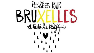 "<p>""Thoughts for Brussels and for all of Belgium""</p><p>(Supplied)</p>"