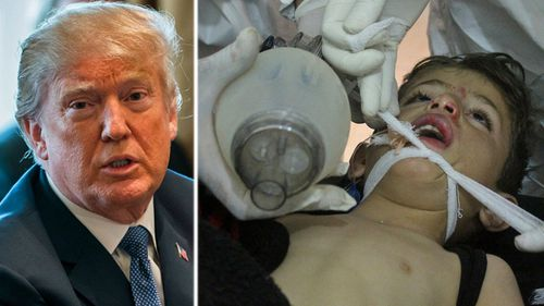 US President Donald Trump has promised payback to Syria over the gassing attacks. (AP photos).