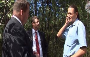Queensland police release new vision showing the moment Daniel Morcombe's killer was arrested