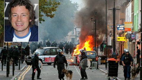 Jamie Oliver's restaurant wrecked by UK rioters