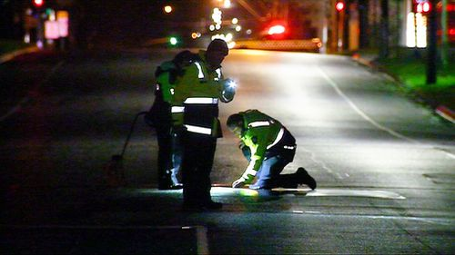 The 10-year-old was hit by a car while crossing the road in Melbourne.