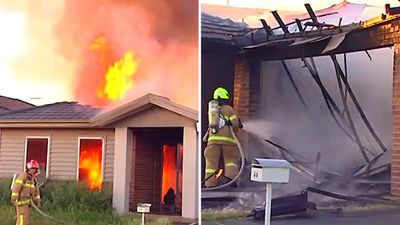 Family of 10 escape ferocious home fire