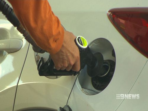 A drop in global oil costs overnight means Australian motorists will pay less at the bowser. Picture: 9NEWS.