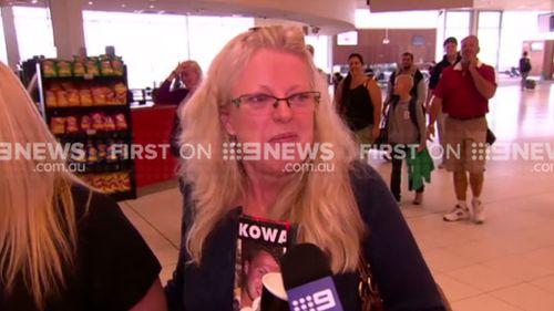 Vera Kowalski at Adelaide Airport. (9NEWS)