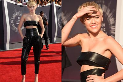 Doesn't Miley look like she's about to burst into the chorus of 'Papa Don't Preach'?