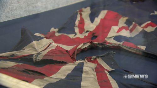 The flag.