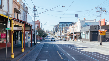 Melbourne's Smith Street during lockdown