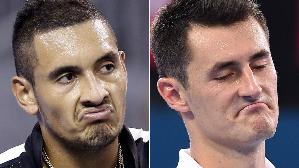 Nick Kyrgios and Bernard Tomic. (AAP)