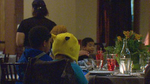 Local homeless children are treated to a free meal. (KOMO)
