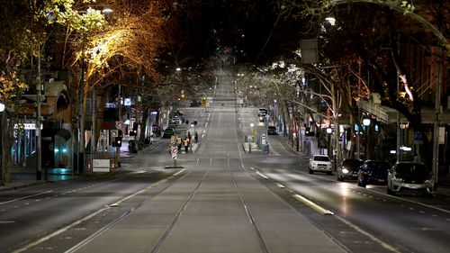 Collins Street after 8pm last night