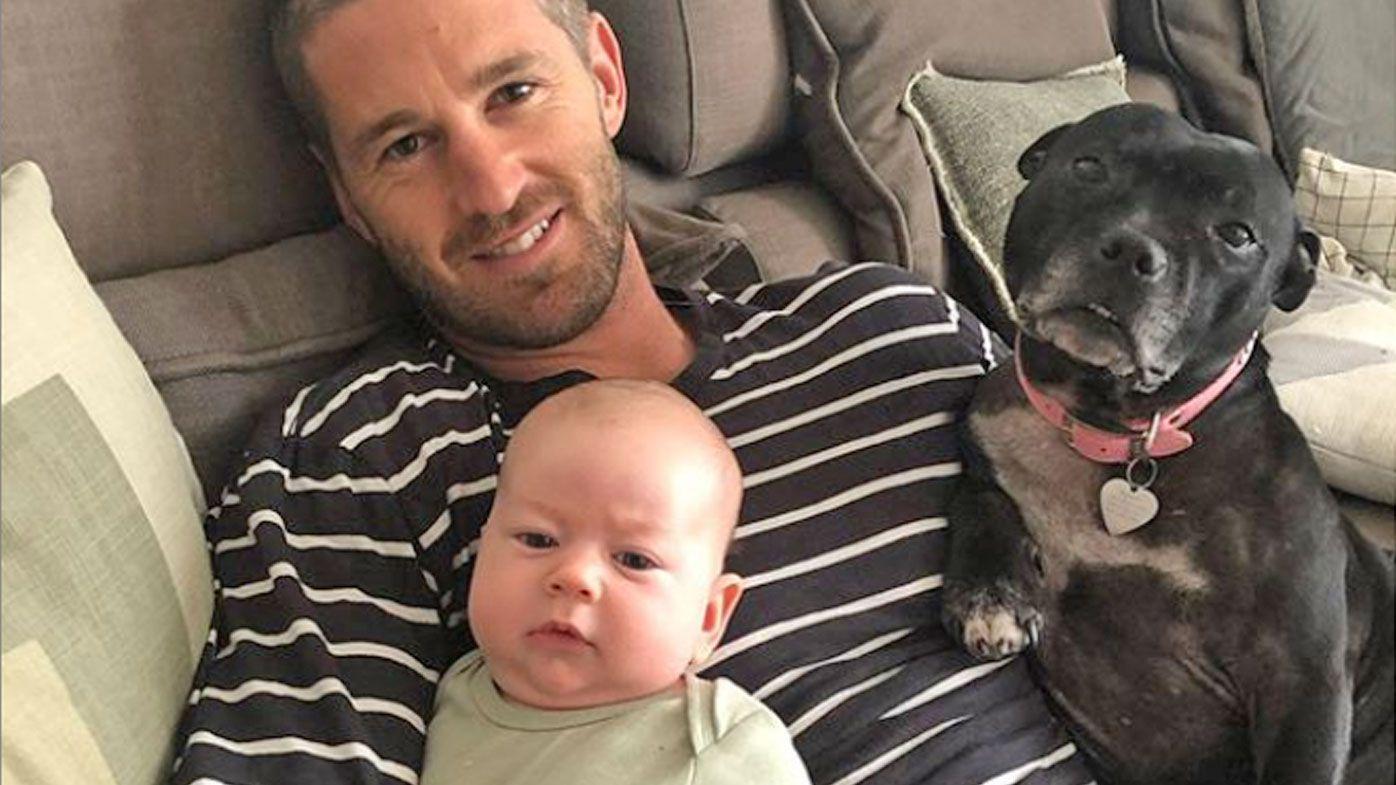 Callan Ward and his son Romeo.