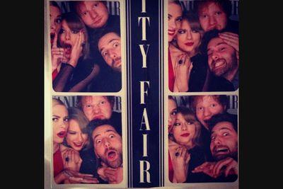 @jaimeking: #VanityFair fun with @edsheerhan @taylorswift and Murray.