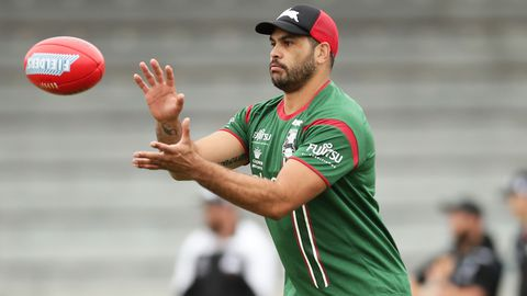 Greg Inglis catches a Sherrin