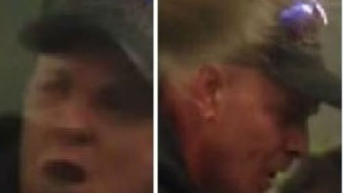 Victorian Police have released images of a man who allegedly attacked another passenger on a Ringwood-bound train. (VIC Police)