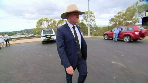 Barnaby Joyce on Friday announced he's stepping down as Deputy PM and leader of the Nationals. (AAP)