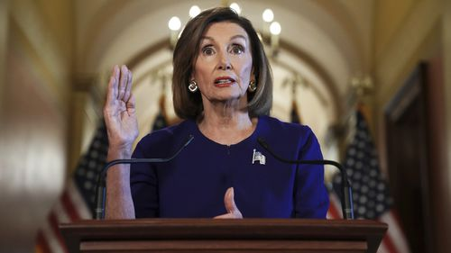 "House Speaker Nancy Pelosi said ""the president must be held accountable""."