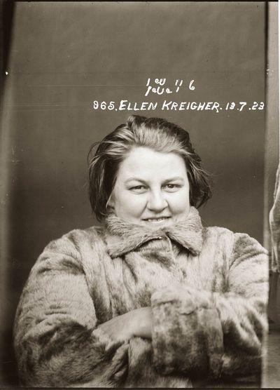 """Ellen (""""Nellie"""") Kreigher, 1923"""