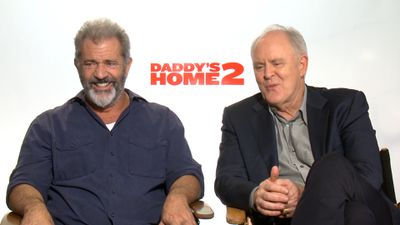Mel Gibson and John Lithgow talk joys of fatherhood, kissing Will Ferrell