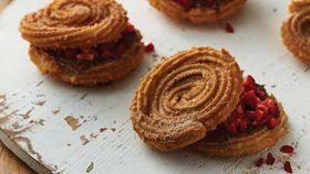 Spanish-style churro stacks with Nutella and seasonal fruit