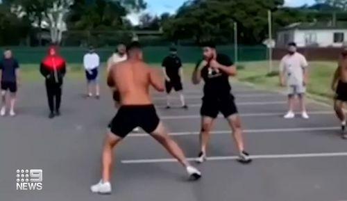 Warring rappers Sydney brawl