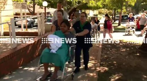 Patients and staff were evacuated from four wards of the hospital. (9NEWS)