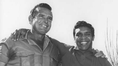 Geoff Brown and boxing legend Lionel Rose