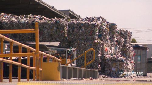 Recyclable rubbish is going into landfill in Victoria.