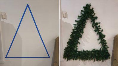 Mum's genius space saving Christmas tree hack