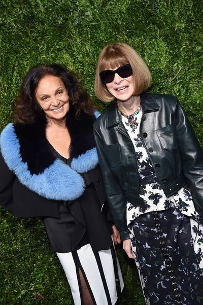 Vogue editor Anna Wintour and Diane von Furstenberg