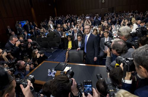 Last month, Zuckerberg spent two days testifying before the US Congress on his company's data and business practices. (AP)