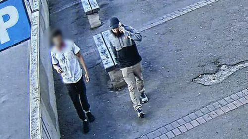Security vision obtained by Nine News shows one of the occasions. He told his case worker he was going to Broadway Shopping Centre to watch a movie, but CCTV and his electronic monitoring anklet proved otherwise.