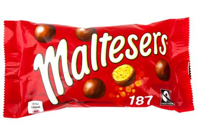 Maltesers 40g: About 5.5 teaspoons of sugar