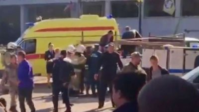 At least 19 killed in gun rampage at Crimea college