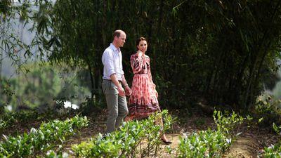 The couple visits a tea garden in Kaziranga.