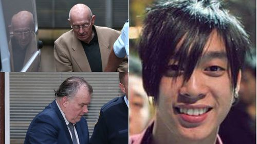 Roger Rogerson (top left) and Glen McNamara (bottom left) were found guilty of the murder of Jamie Gao. (AAP)