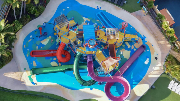 The water park at Paradise Resort, Surfers Paradise, Queensland