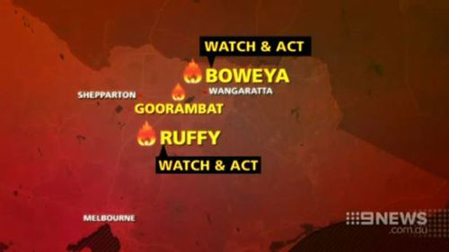 Fires were burning out of control across the state. (9NEWS)