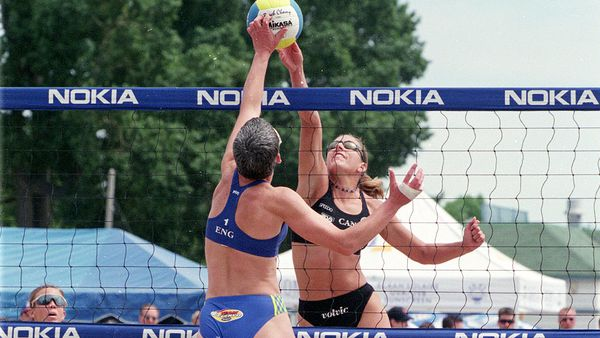 Women competing in Beach Volleyball World Tour Qualification Tournament (Getty)