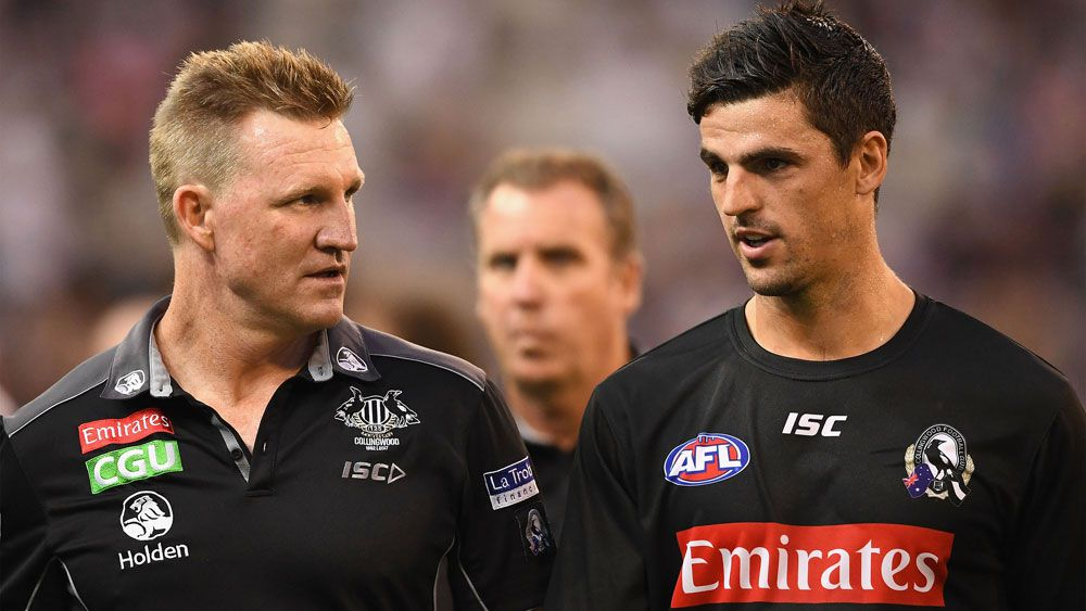 Nathan Buckley and Scott Pendlebury.