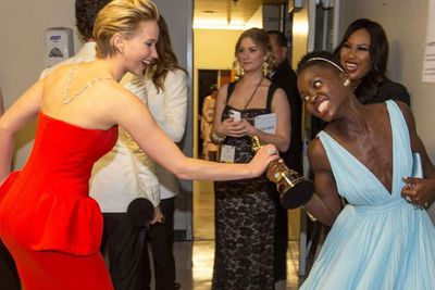 JLaw battling Lupita for the Oscar? Now, this is what we wanted to see.