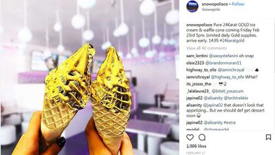 24 Karat ice cream shines brightly