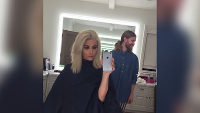 Kardashian thanked the hairdressing team that created the look with this post on her Instagram page.