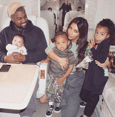 Kim Kardashian, Kanye West, North West, Saint West, Chicago West
