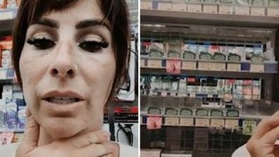Sara Vale in tears after panic buyers clear baby medicine off shelves
