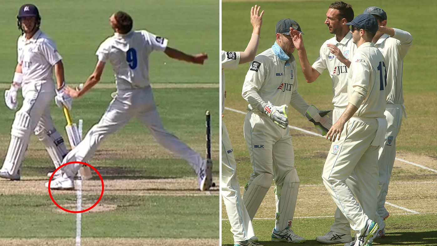 'Nothing even near the line': Umpire misses monster no-ball in Sheffield Shield final